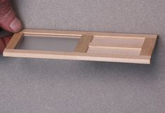 How to Make Custom Opening Doors for Dollhouses and Model Buildings: Cross Section View of a Finished Dolls House Door