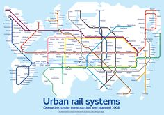 All sizes | World Metro Map by Mark Ovenden | Flickr - Photo Sharing!