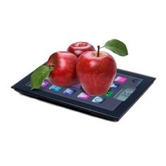 Introducing the fabulous iPad digital scale! This unusual kitchen scale is highly accurate and has the shape of an iPad. 5 kg). Ipad, Display Lcd, Gadgets, Digital Kitchen Scales, Plastic Cutting Board, Apple, Fruit, Gifts, Design