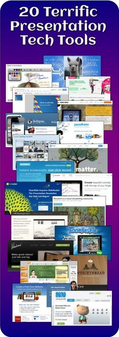 Corkboard Connections: 20 Terrific Presentation Tech Tools for Kds - Free ebook compilation of teacher recommendations for using online tools or mobile apps for classroom presentations. Also includes an editable student list that can be used as a handout when assigning projects.