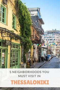 If you are one of those people that like to plan ahead, then keep reading because once again the GrekAddict team has come to your rescue. This time we have decided to share with you 5 neighborhoods you must visit in Thessaloniki. Greece Travel, Greece Trip, Greece Holiday, Macedonia, Greek Islands, Study Abroad, Athens, Places To See, Exploring