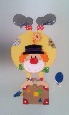 Fensterbild  Clown steht Kopf -- Fasching -Karneval -Dekoration - Tonkarton! 4