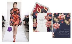Oscar de la Renta teams up with paperless post to create stationery inspired by the runway