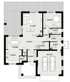 Rzut projektu My House Plans, Floor Plans, How To Plan, Dream Homes, Floor Plan Drawing, House Floor Plans
