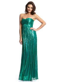LA FEMME  Sweetheart Neckline Sequin Dress