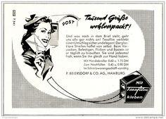 Original-Werbung/ Anzeige 1952 - TESAFILM / BEIERSDORF- HAMBURG  - ca. 130 x 80 mm