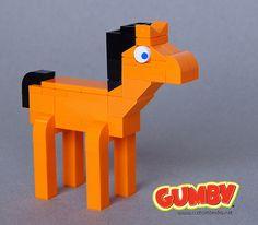 #LEGO Gumby's Pal Pokey.  He's a bit grumpy--but cute.