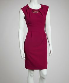 Take a look at this Magenta & Gold Sleeveless Dress by Sandra Darren on #zulily today!