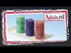 Instructies kaarsen gieten – heel eenvoudig individuele ijsblokjes kaarsen maken - YouTube