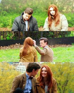 "Eleven + Amy Pond | Matt Smith + Karen Gillan | Doctor Who | Behind the scenes ""The Angels Take Manhattan"" in Central Park, NY"