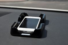 [$1.77] Car Dashboard Anti-Slip Pad Mobile Navigation Frame (Colour: Black)