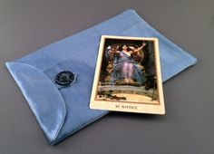 Sky Blue Edwardian Silk Tarot of Delphi Tarot Bag