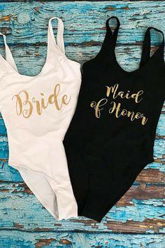 Bride Bathing Suits. Honeymoon Swimwear. Swimsuit. Bridesmaid Gift. Bride Wedding Gift. Maid of Honor. Bachelorette Swim #affiliate #weddings #swimwear #bridalparty #bridal