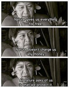 All nature asks of us is that we protect it. - Davi Kopenawa Yanomami from the documentary Indians in Brazil: Children of the Land (Mother Earth) All Nature, Nature Quotes, Me Quotes, Yoga Quotes, Wisdom Quotes, Save Our Earth, Save The Planet, Thing 1, Faith In Humanity