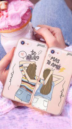Capinha para celular bff aturo mas amo by gocase, donut, milkshake, friend,