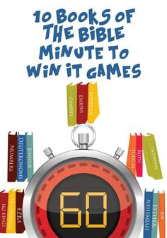 Books of the Bible Minute to Win It Games – Children's Ministry Deals Sunday School Games, Sunday School Lessons, Bible Lessons For Kids, Bible For Kids, Youth Group Lessons, Youth Games, Games For Kids, Kids Church Games, Church Camp