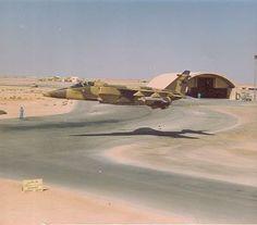 RAF Jaguar doing it down in the desert.