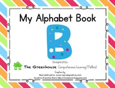"""Letter B Alphabet Book - The letter """"b"""" alphabet book introduces initial letter sounds in words while making a fun mini book to read and practice over and over. Differentiated levels of learning include: teacher's model, beginning, intermediate, and advanced. Skills practiced include writing name, coloring, tracing letters, cutting, and pasting.    Designed carefully to integrate fine motor skills needed for writing with reading!   Pg. 1: Cover page to help you find it easily (print to use…"""