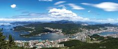 Cityscape of Tongyeong South Gyeongsang Province South Korea [OS] People Around The World, Around The Worlds, High Quality Images, South Korea, Places To Travel, Wander, Mount Everest, Mountains, Country