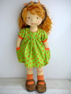 """20"""" waldorf doll /DearLittleDoll #waldorfdoll #dearlittledoll #naturalfiberartdoll #artdoll #natrualdoll"""