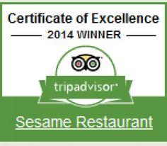 Sister Restaurant of Jolshiri- Indian Restaurant was awarded- Winner of Certificate of Excellence, 2014 by TripAdvisor.