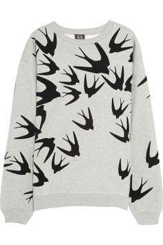 A Few Things I'm Lusting After… McQ Alexander McQueen|Bird-flocked cotton sweatshirt|NET-A-PORTER.COM #fashion #style