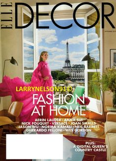 Elle Decor's New Issue Shows The Top Design Trends Inspired In Fashion . Milan Apartment, New York City Apartment, Family Apartment, Elle Decor Magazine, Magazine Covers, Aerin Lauder, Moving To Italy, Elle Fashion, Joan Smalls