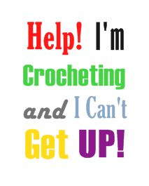 Help!!! ... Oh Never mind.  What was I thinking?  Leave me alone!  I'm fine.  I'm crocheting, aren't I?