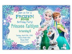 20% OFF Frozen Fever Invitation Frozen Birthday by CupcakeTops