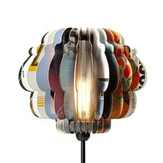 storybook lamp shade -- made from record album covers!!! LOVE!!!