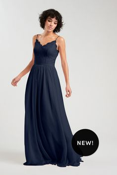 Jocelyn Bridesmaid Dress in Navy blue in Chiffon Wedding Party Dresses e00e08564e59