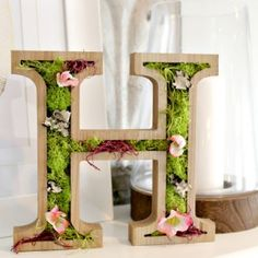 Wooden Spring Moss Monogram + The Creative Corner #87: DIY, Craft & Home Decor Link Party March 6, 2016 by Christina Dennis Leave a Comment