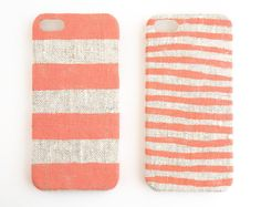 coral stripe iPhone case