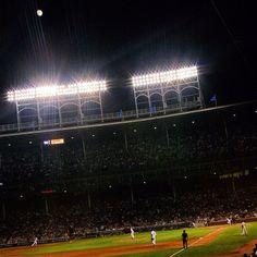 Wrigley Field under the lights. #Cubs