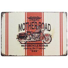 Metal Plaque - Mother Road 66