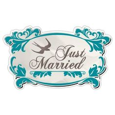 Just Married Oval Scroll Car Door Magnet - 2 in Set by VictoryStore, http://www.amazon.com/dp/B00D6JC4HY/ref=cm_sw_r_pi_dp_tmG7rb0G7Y5VT