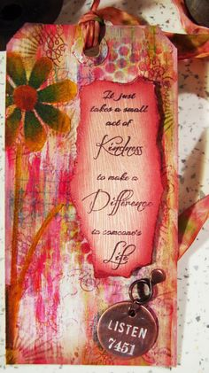 The Hobby Room (Michelle Webb): Small Act of Kindness arty tag
