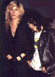 Kickstart My Heart For Appetite For Destruction — Sluff Slash & Duff Mckagan appreciation post~ Guns N Roses, Duff Mckagan, Axl Rose, Metallica, Steven Adler, Saul Hudson, Appetite For Destruction, Velvet Revolver, Slash