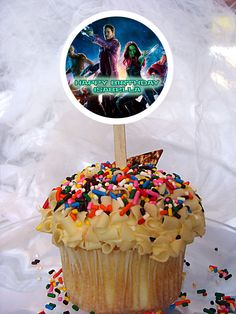 World of Pinatas - Guardians of the Galaxy Personalized Cupcake Toppers Set of 6, $5.99 (http://www.worldofpinatas.com/guardians-of-the-galaxy-personalized-cupcake-toppers-set-of-6/)