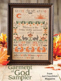 Garment of God Sampler from the Sep/Oct 2016 issue of Just CrossStitch Magazine. Order a digital copy here: https://www.anniescatalog.com/detail.html?prod_id=133007