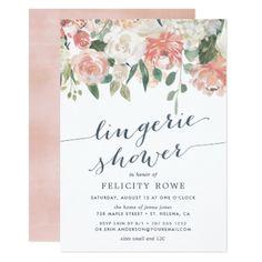 #bridal - #Midsummer Floral | Lingerie Shower Invitation