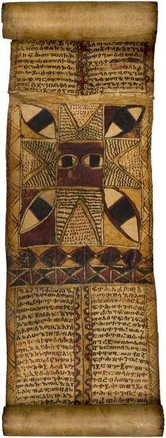 Ethiopian magic scroll.