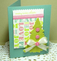 #PTI Peace, Love & Joy, Holiday Button Bits -card inspiration