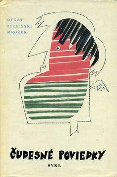 Slovak book cover, 1964, Dygat Zielinski Mrozek - Cudesne Poviedky