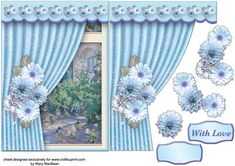 Room with a View Blue Posy on Craftsuprint - Add To Basket!
