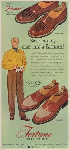 Fortune shoes, 1953. `