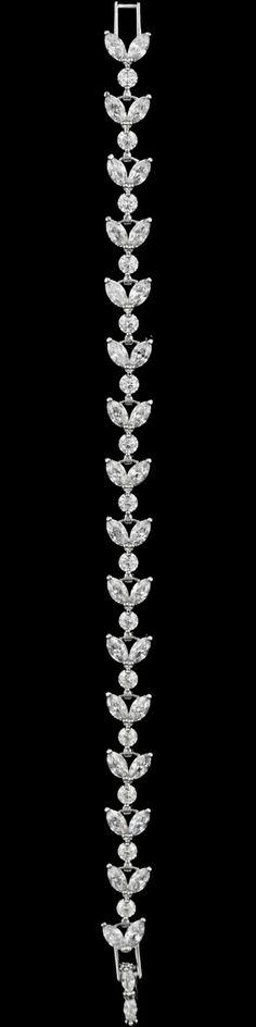 Dainty CZ Marquise Crystal Wedding and Formal Bracelet - Affordable Elegance Bridal -