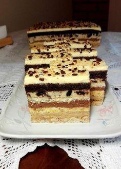 Fantázia szelet, egy süti ami annyira fantasztikus, hogy nem lehet megunni! Hungarian Desserts, Hungarian Recipes, Sweet Recipes, Cake Recipes, Dessert Recipes, Polish Recipes, Breakfast Dessert, Winter Food, Cake Cookies