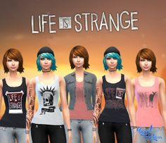 Life is Strange t-shirts at Victor Miguel via Sims 4 Updates Check more at http://sims4updates.net/clothing/life-is-strange-t-shirts-at-victor-miguel/