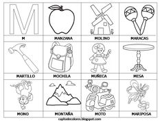 Spanish Word Cards for Kindergarten - palabras con m, ma, me, mi, mo, mu - silabas
